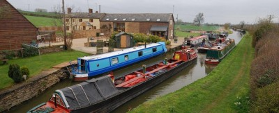Coal Boats – Canal Trust passing The Old Barn